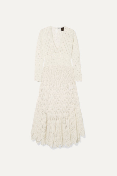 LOEWE | Loewe - + Paula'S Ibiza Crocheted Cotton Maxi Dress - Ivory | Goxip