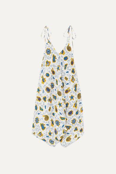 Loewe Dress + Paula's Ibiza asymmetric printed crepon dress