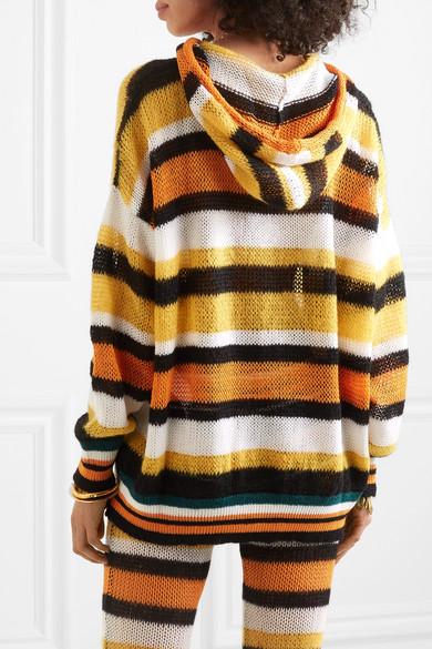 c1ae9fdfd4 Loewe | + Paula's Ibiza hooded striped knitted sweater | NET-A ...