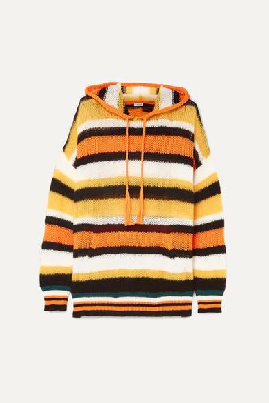 31c1d2eaaf + Paula's Ibiza hooded striped knitted sweater