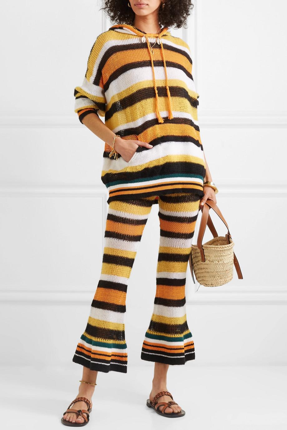 Loewe + Paula's Ibiza hooded striped knitted sweater