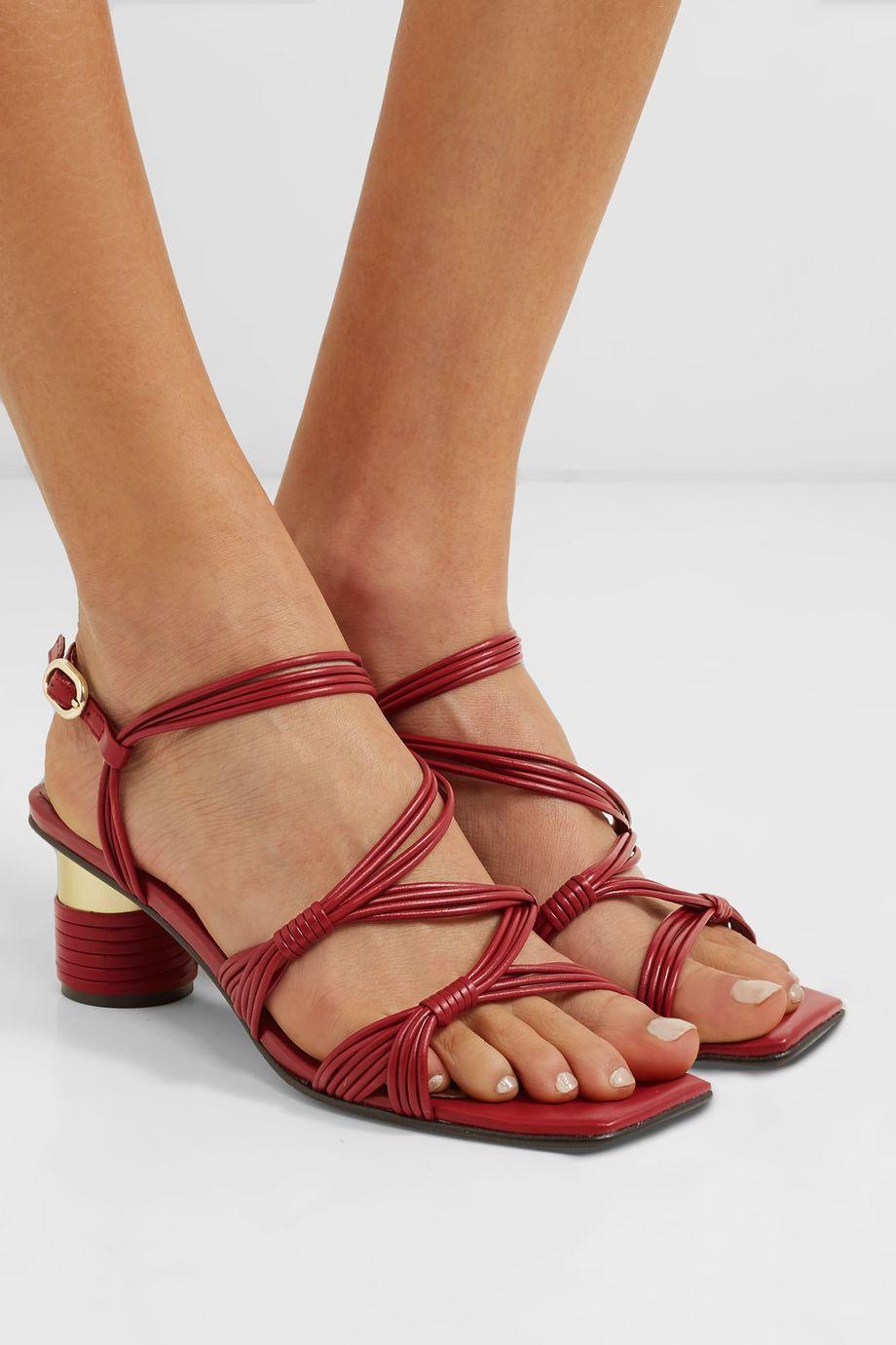 Souliers Martinez Cartagena leather sandals