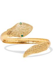 Jazmin gold vermeil and emerald bangle