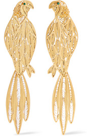 Pepa gold-tone emerald earrings