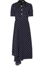 Alessandra Rich Crystal-embellished polka-dot silk-georgette maxi dress c59a45134