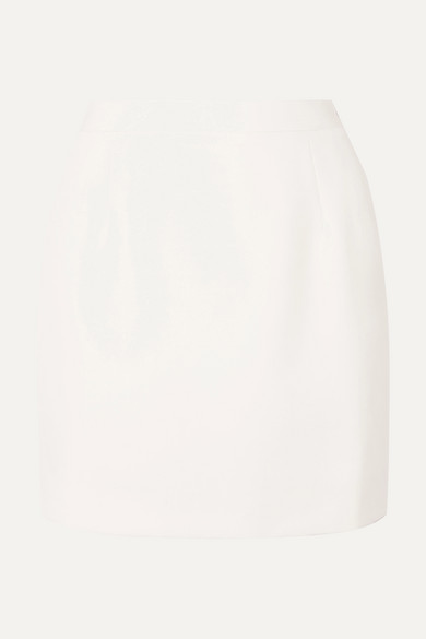 Alessandra Rich Skirts Wool-crepe mini skirt