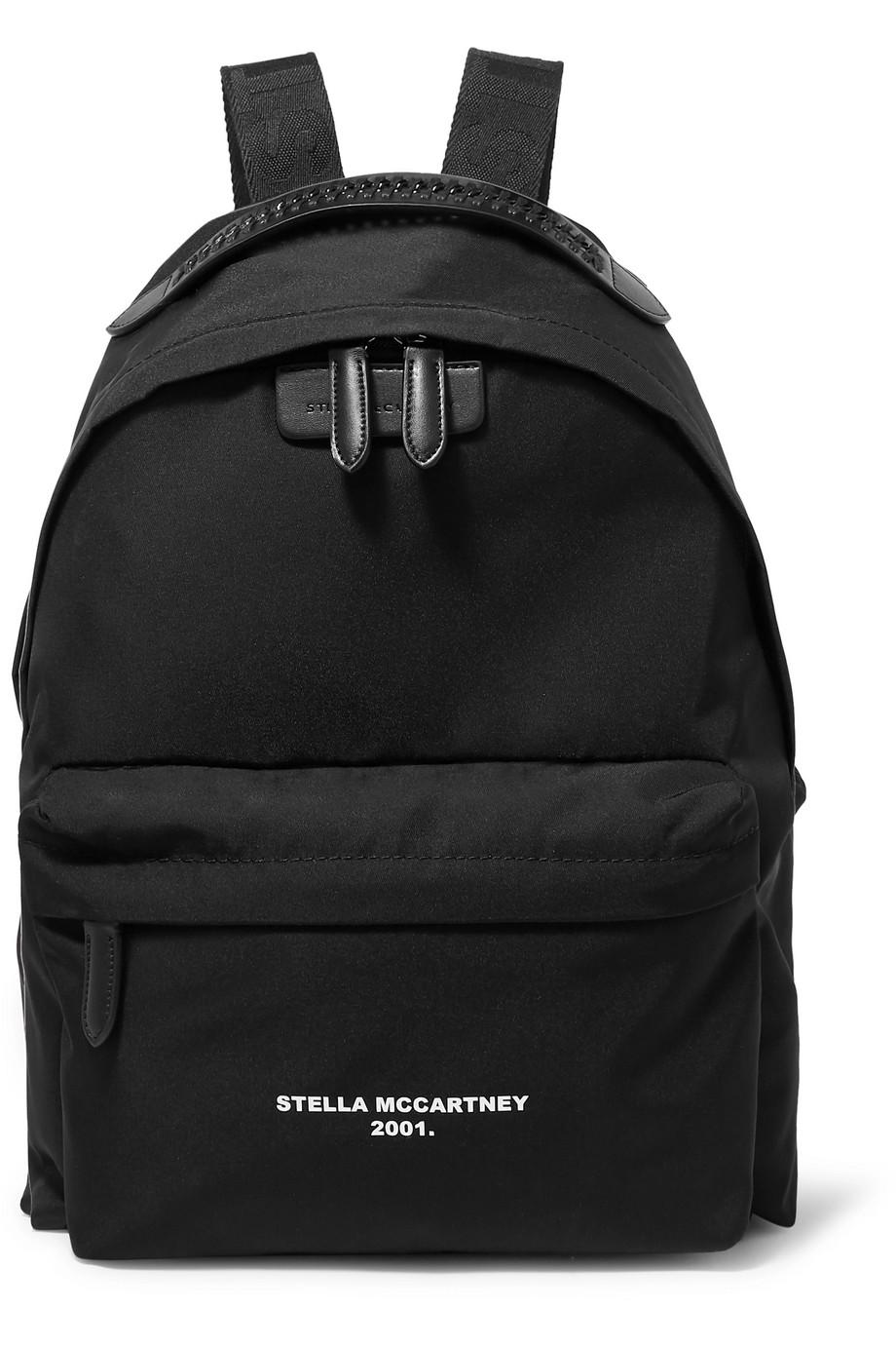 Stella McCartney The Falabella Go Rucksack aus Shell mit Kunstlederbesatz und Print
