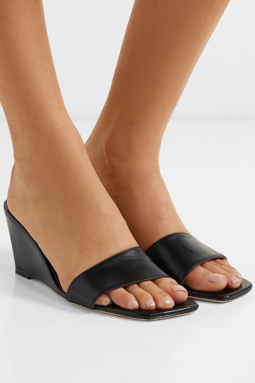 STAUD Billie leather wedge sandals
