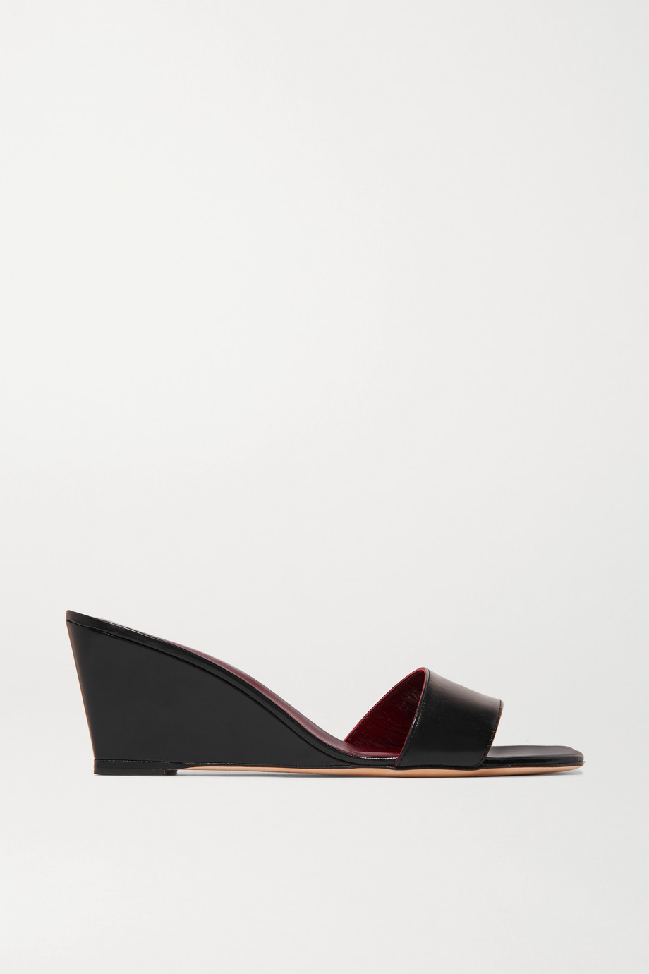 STAUD Billie leather wedge sandals