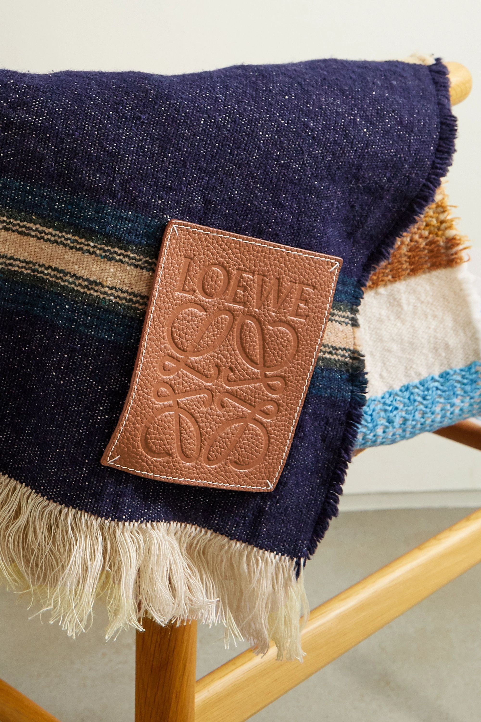 Loewe + Paula's Ibiza appliquéd embroidered wool wrap