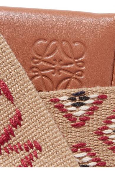 Loewe Shoes + Paula's Ibiza Heel woven canvas and leather pouch