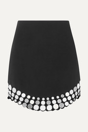 David Koma Embellished crepe mini skirt
