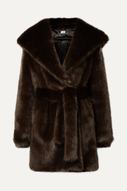 A PERDIFIATO Melody hooded faux fur coat