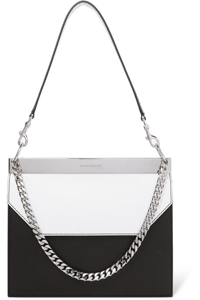 Alexander Mcqueen Shoulder Two-tone leather shoulder bag