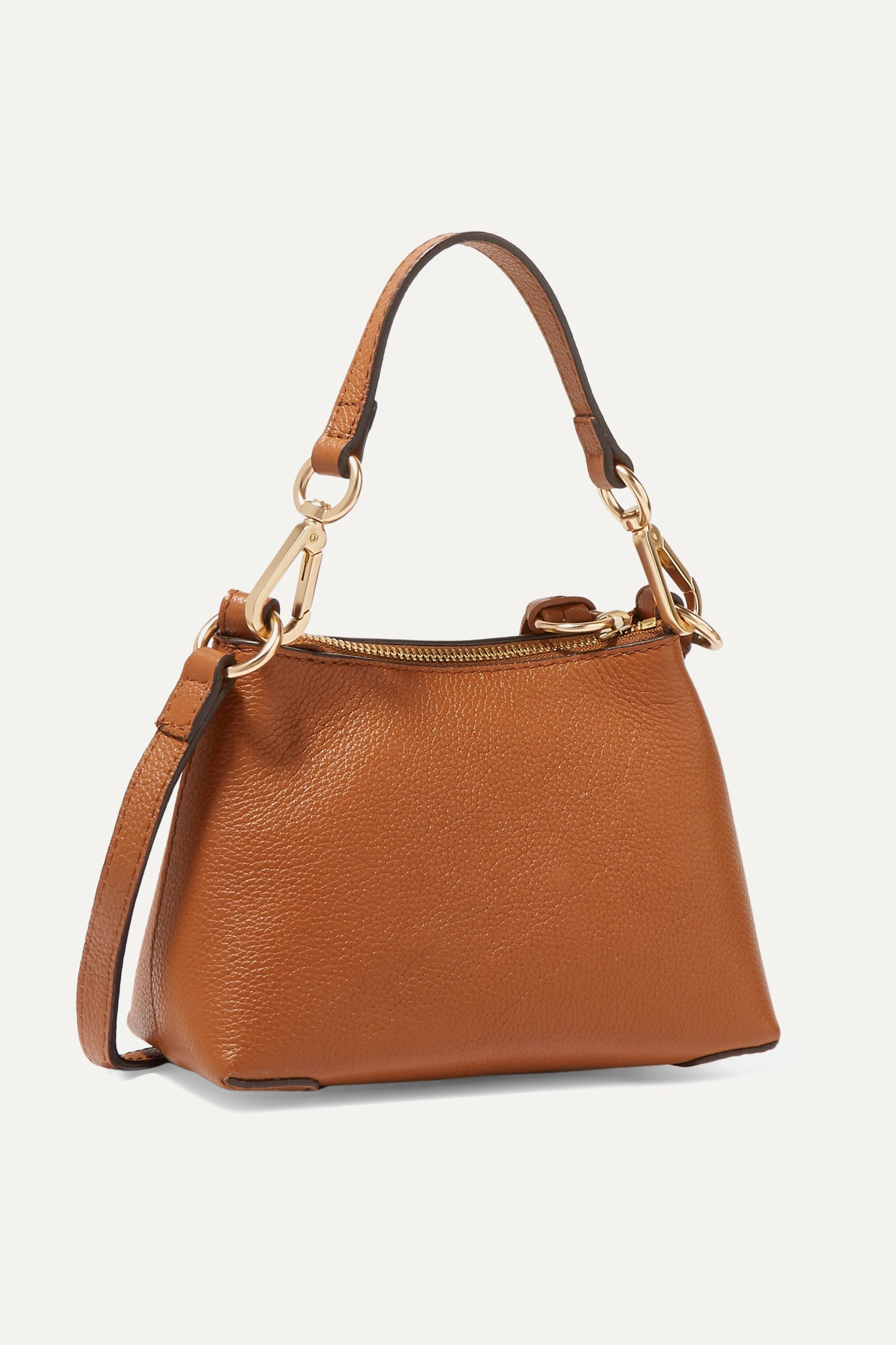 See By Chloé Joan mini textured-leather and suede shoulder bag