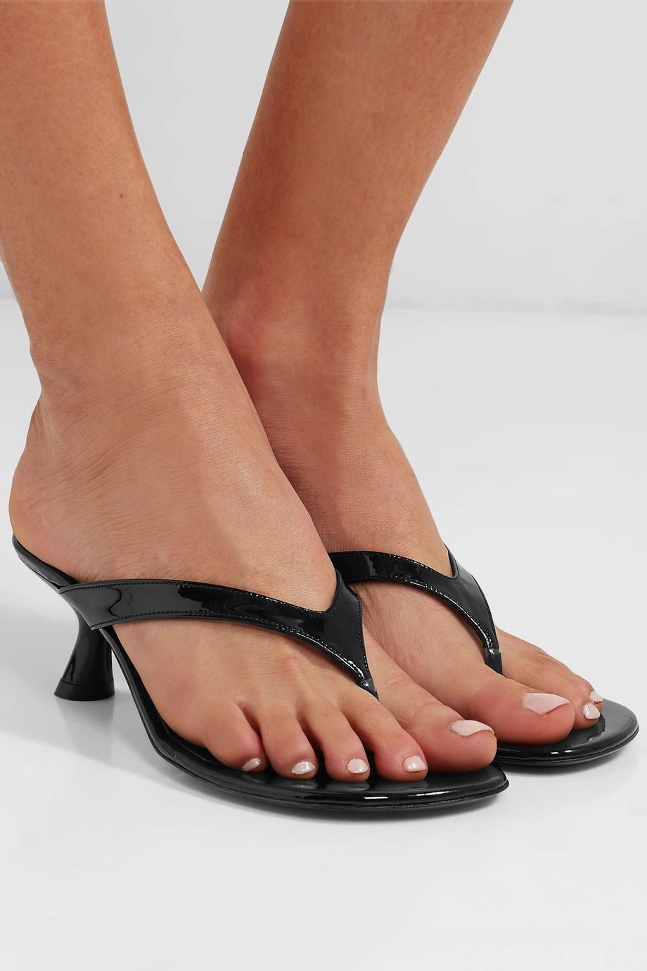 unknown Beep patent-leather sandals