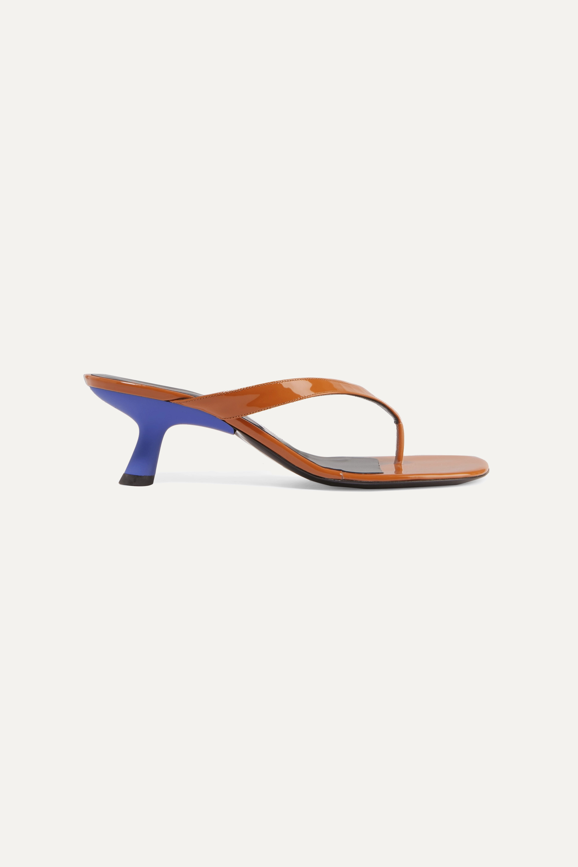 SIMON MILLER Beep patent-leather sandals