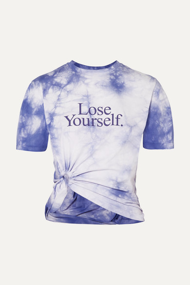 Paco Rabanne T-shirts Lose Yourself cropped printed tie-dyed cotton-jersey T-shirt