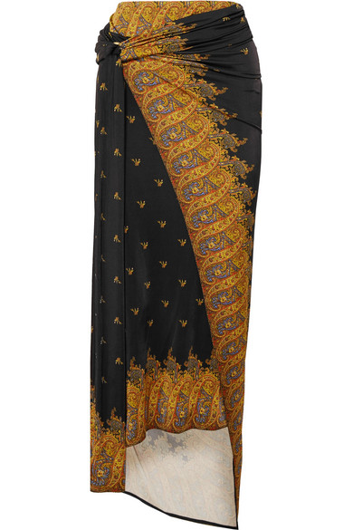 993380fae Paco Rabanne   Printed stretch-jersey wrap skirt   NET-A-PORTER.COM