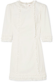 The Vampire's Wife Mini Festival ruffle-trimmed cotton-corduroy dress