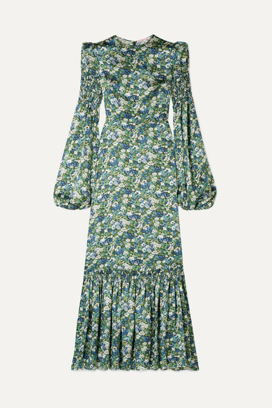 Floral Print Silk Satin Maxi Dress by The Vampire's Wife