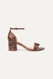 Malica knotted python sandals