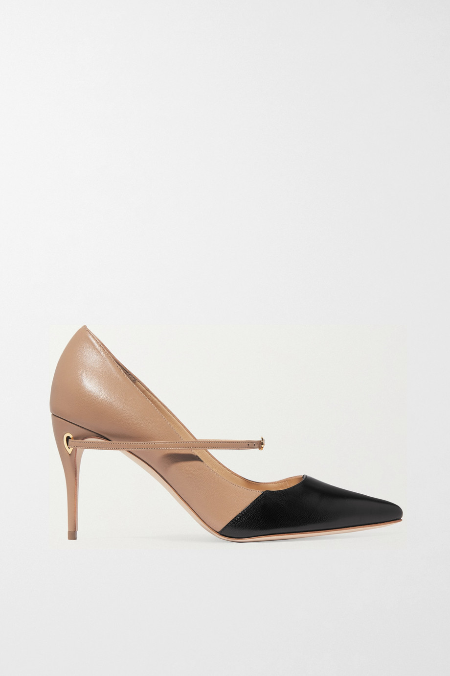 Jennifer Chamandi Lorenzo 85 two-tone leather pumps