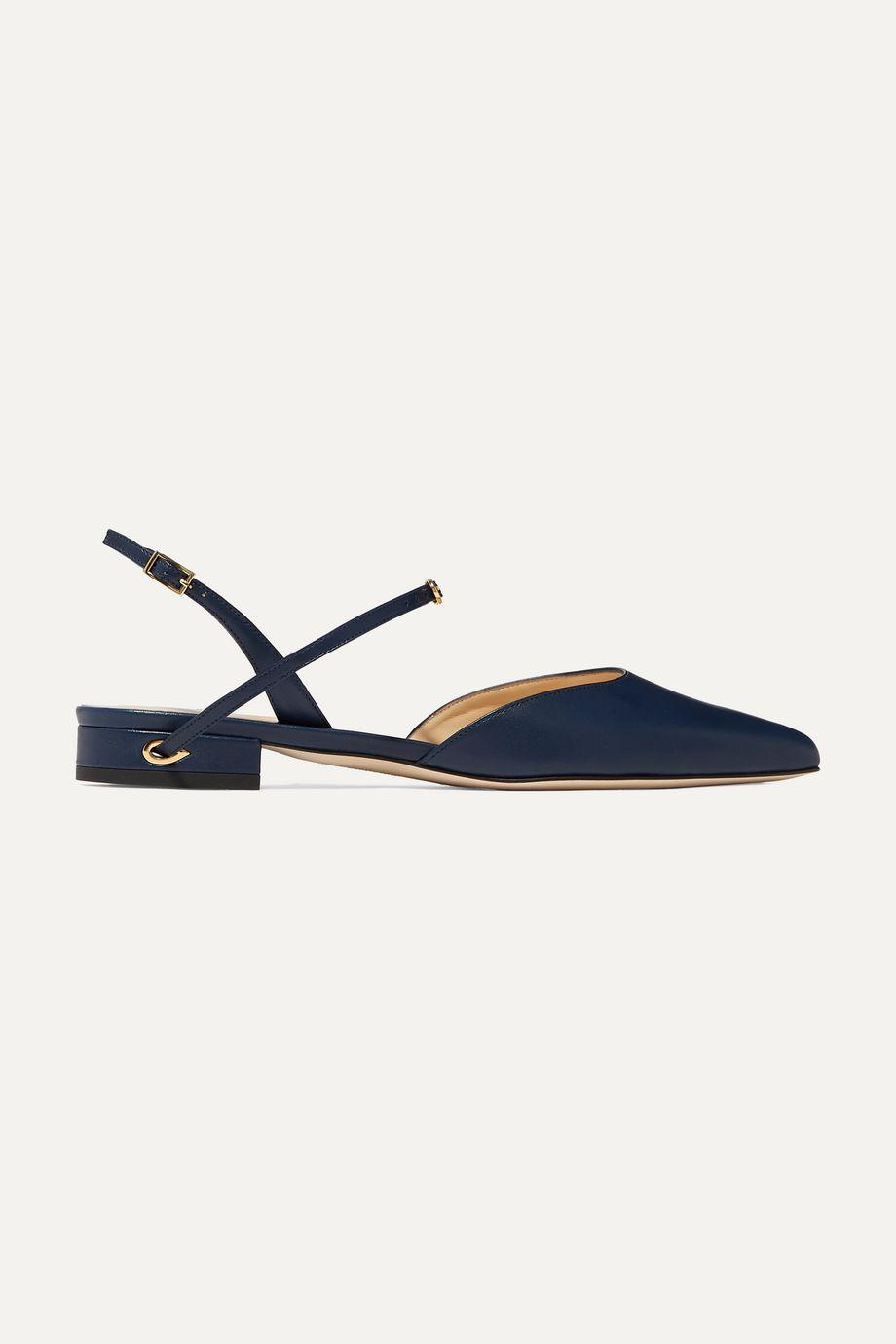 Jennifer Chamandi Vittorio leather slingback point-toe flats