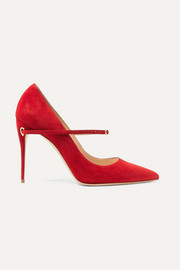 Lorenzo 105 suede pumps