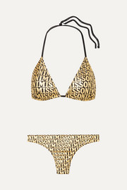 Missoni Mare metallic printed triangle bikini