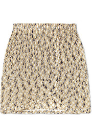 Missoni Metallic crochet-knit mini skirt
