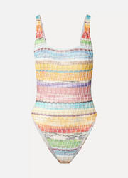 Missoni Mare metallic crochet-knit cotton-blend swimsuit