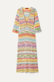 Missoni Mare metallic crochet-knit cotton-blend kaftan