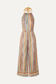 Missoni Mare metallic crochet-knit halterneck jumpsuit