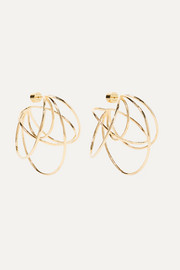 Haywire gold-plated hoop earrings