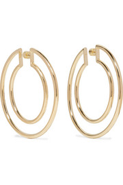 Double Hoop gold-plated hoop earrings