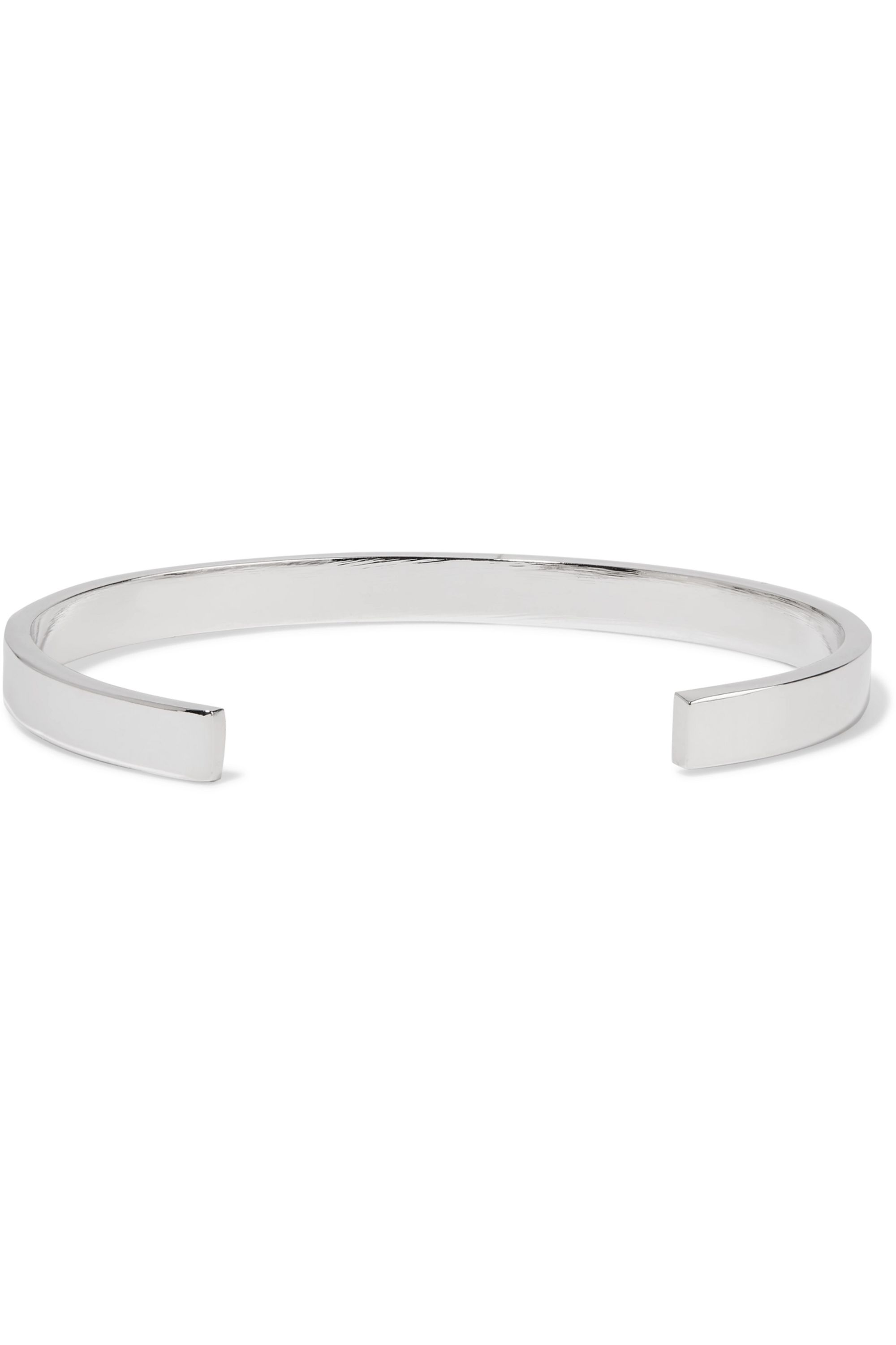 Jennifer Fisher Small Stripe silver and rhodium-plated cuff