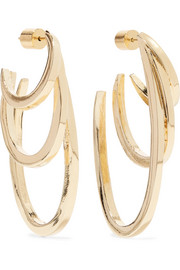 Square Adwoa gold-plated hoop earrings