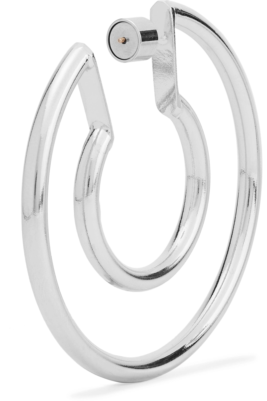 Jennifer Fisher Small Double silver-plated hoop earrings