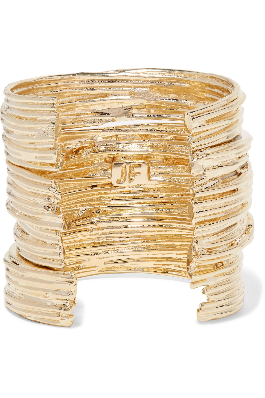 Jennifer Fisher Haywire set of three gold-plated cuffs