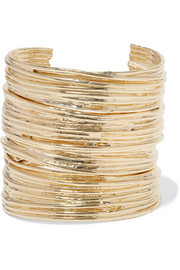 Haywire set of three gold-plated cuffs