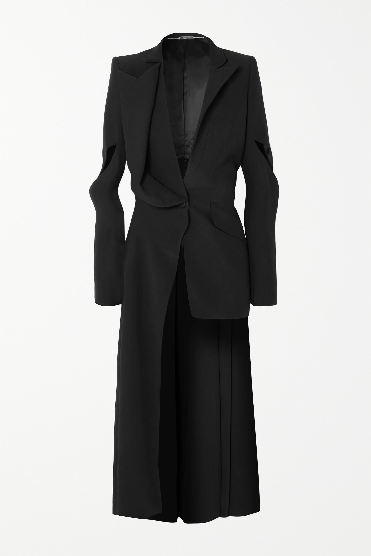 Alexander McQueen Asymmetric cutout crepe blazer