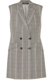 Prince of Wales checked wool mini dress