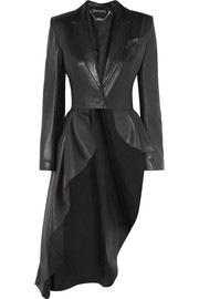 Alexander McQueen Asymmetric leather blazer