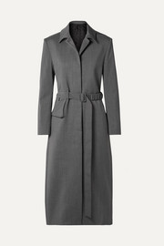 Commission Fanny oversized belted twill coat
