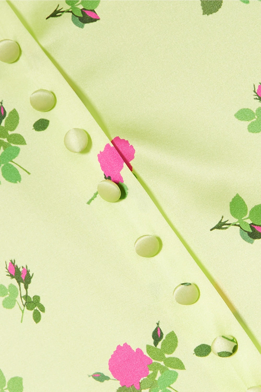 BERNADETTE Hailey floral-print stretch-silk satin midi dress