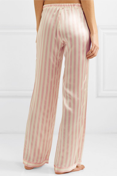 1e784be0aa0a1 Morgan Lane. Chantal striped silk-charmeuse pajama pants. £240. Zoom In