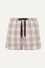 Morgan Lane Bea plaid seersucker pajama shorts