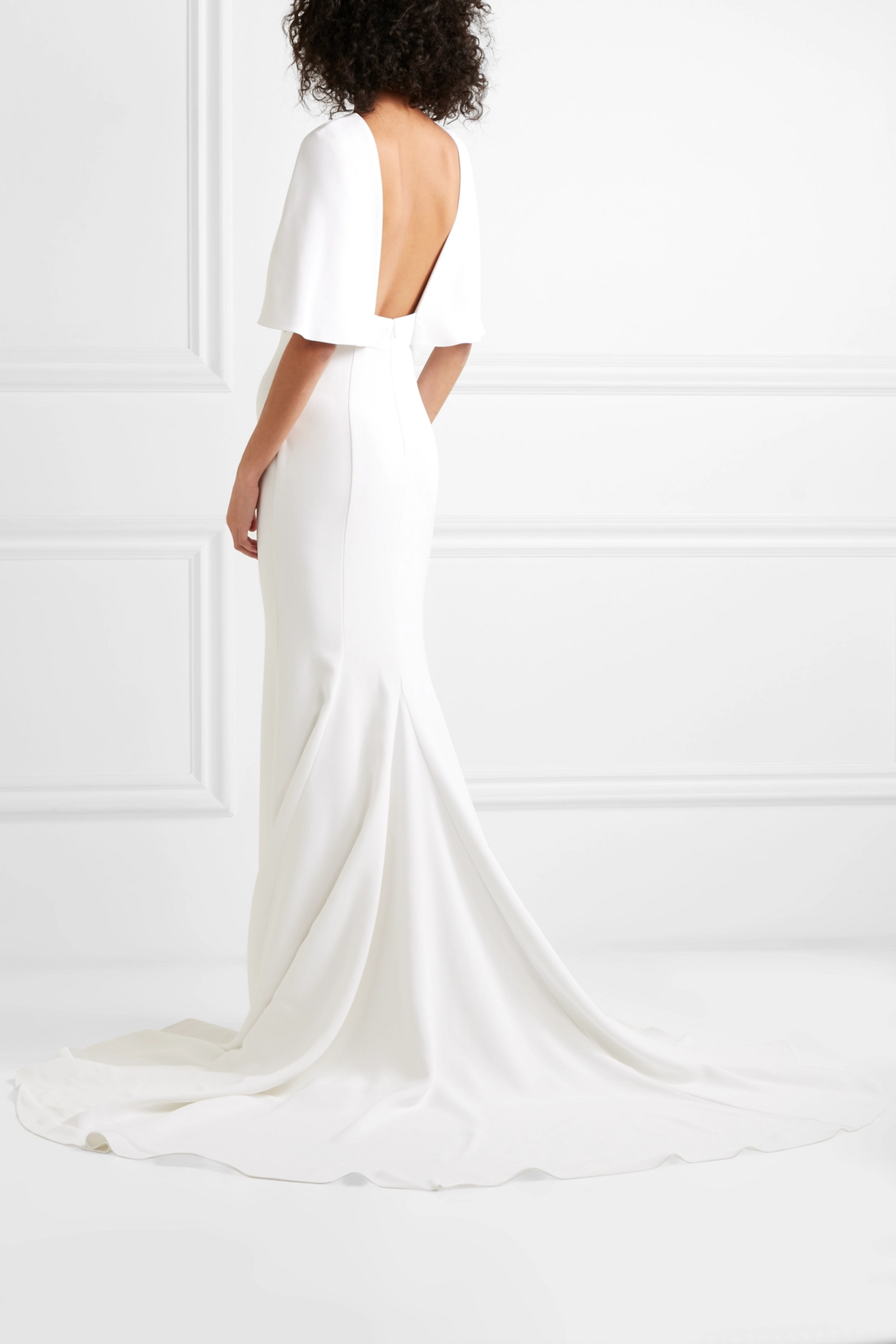 Cushnie Cape-effect crepe gown