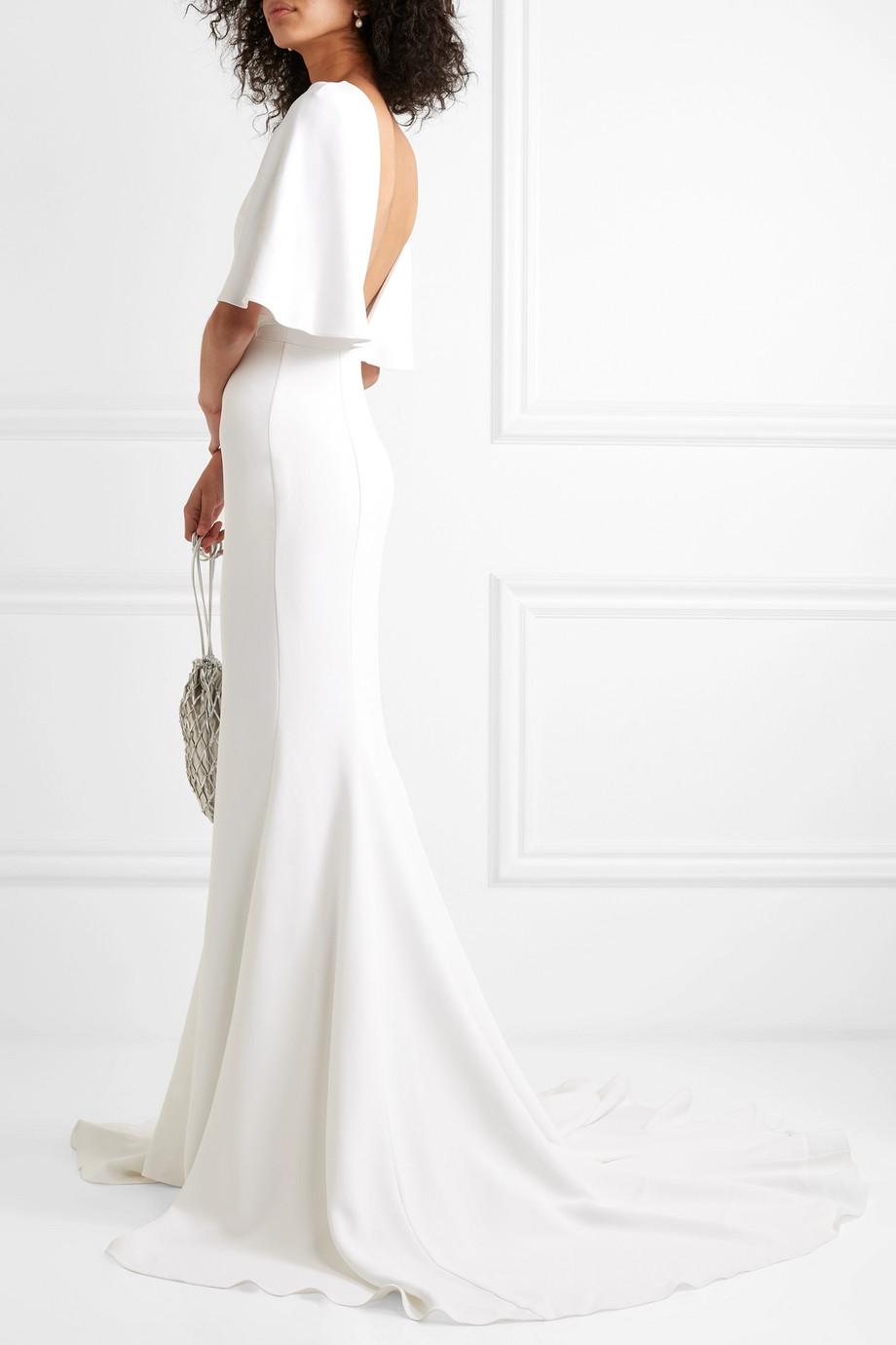 Cushnie Cape-effect crepe gown